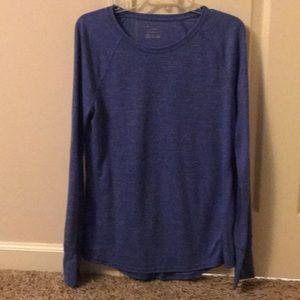 Tek Gear Blue Long Sleeve Workout Top T Shirt L